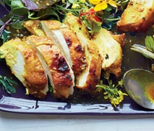 Curried Maple-Mustard Chicken Breasts