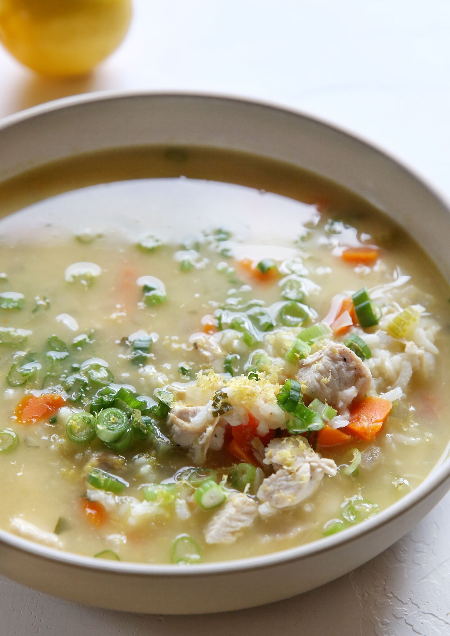 Lemon Chicken and Rice Soup
