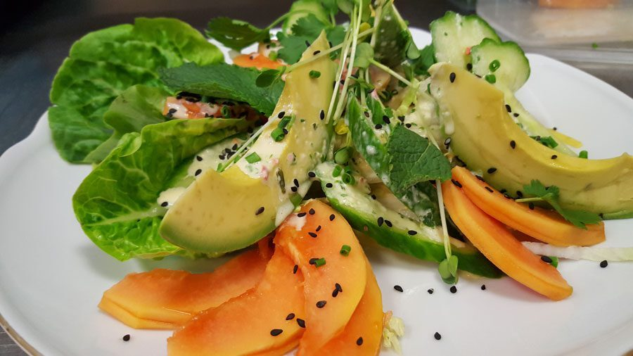 Avocado Papaya Salat