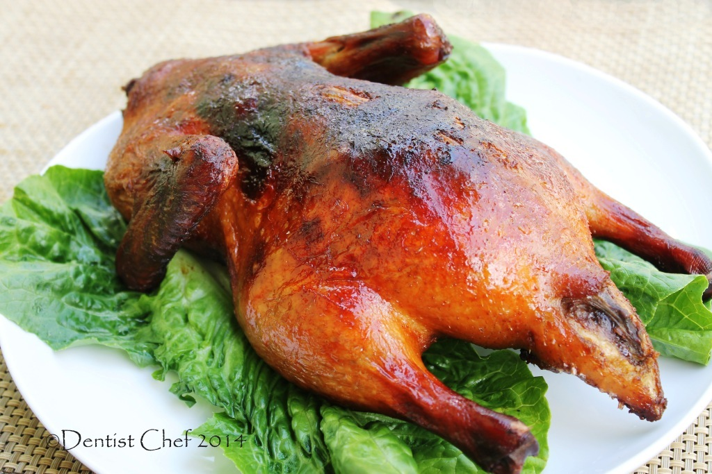 Homemade Peking Duck Recipe with Crispy Crackling Skin, Served with Homemade Soft Chinese Pancake