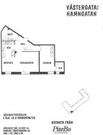 2 rums lägenhet på 62 m²