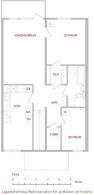 3 rums lägenhet på 75 m²