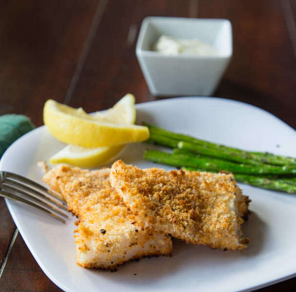 Crispy Fish with Lemon Dill Sauce