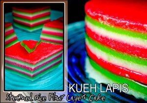 Keeping the tradition through KUEH LAPIS (Steamed Rice Flour Layers Cake)