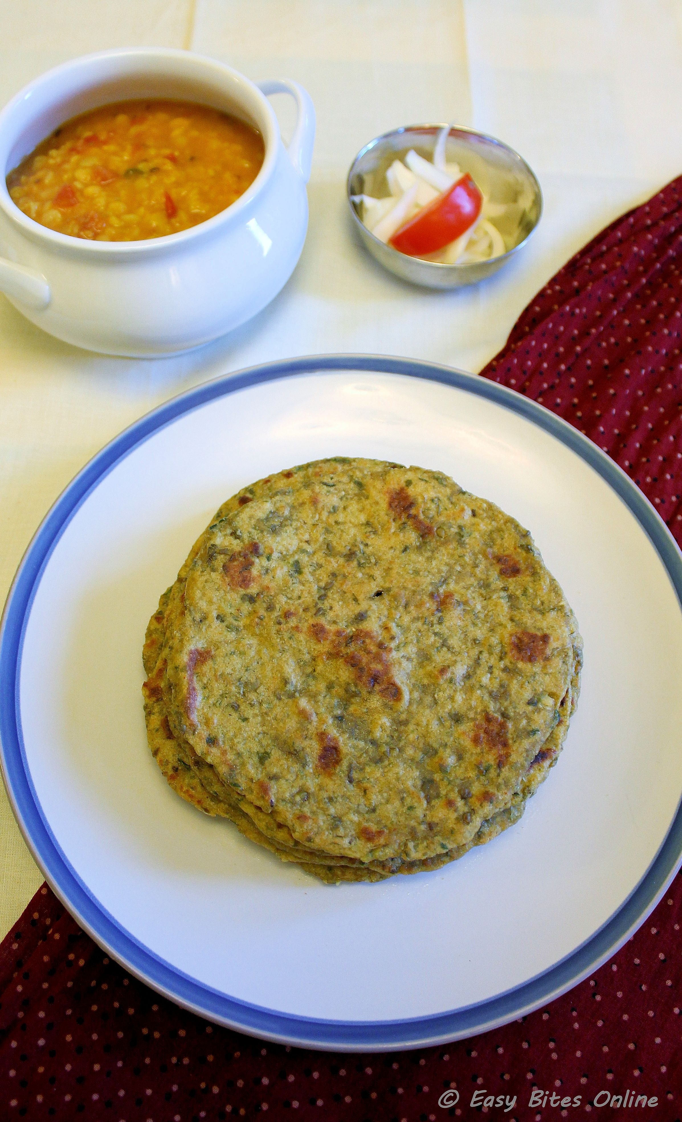 Sprouted Green Gram & Spinach Flat Bread | Sprouted Mung Bean & Spinach Roti