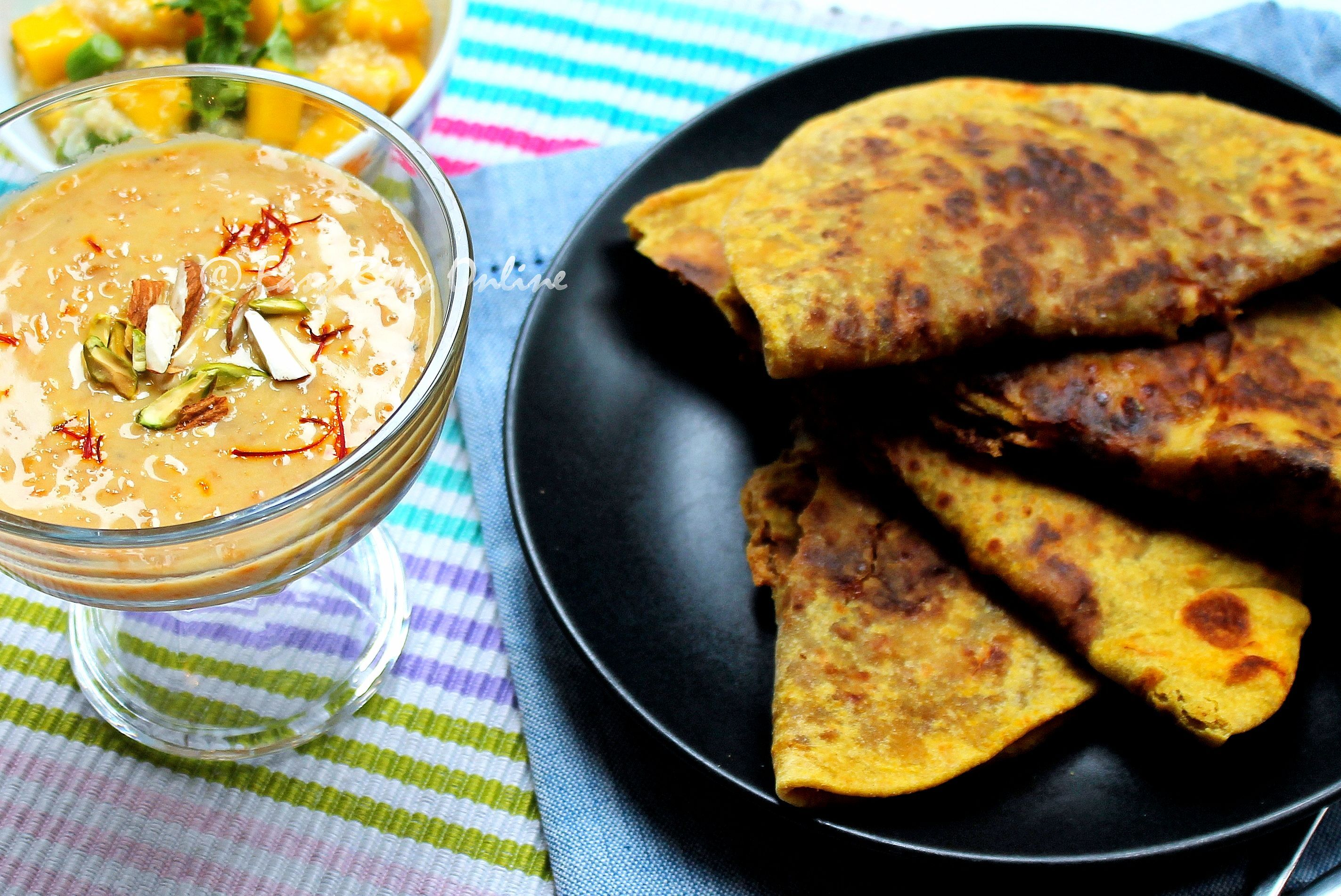 Healthy Ugadi Recipes | Sweet Potato Kheer | Peanut Puran Poli | Mango Quinoa Salad