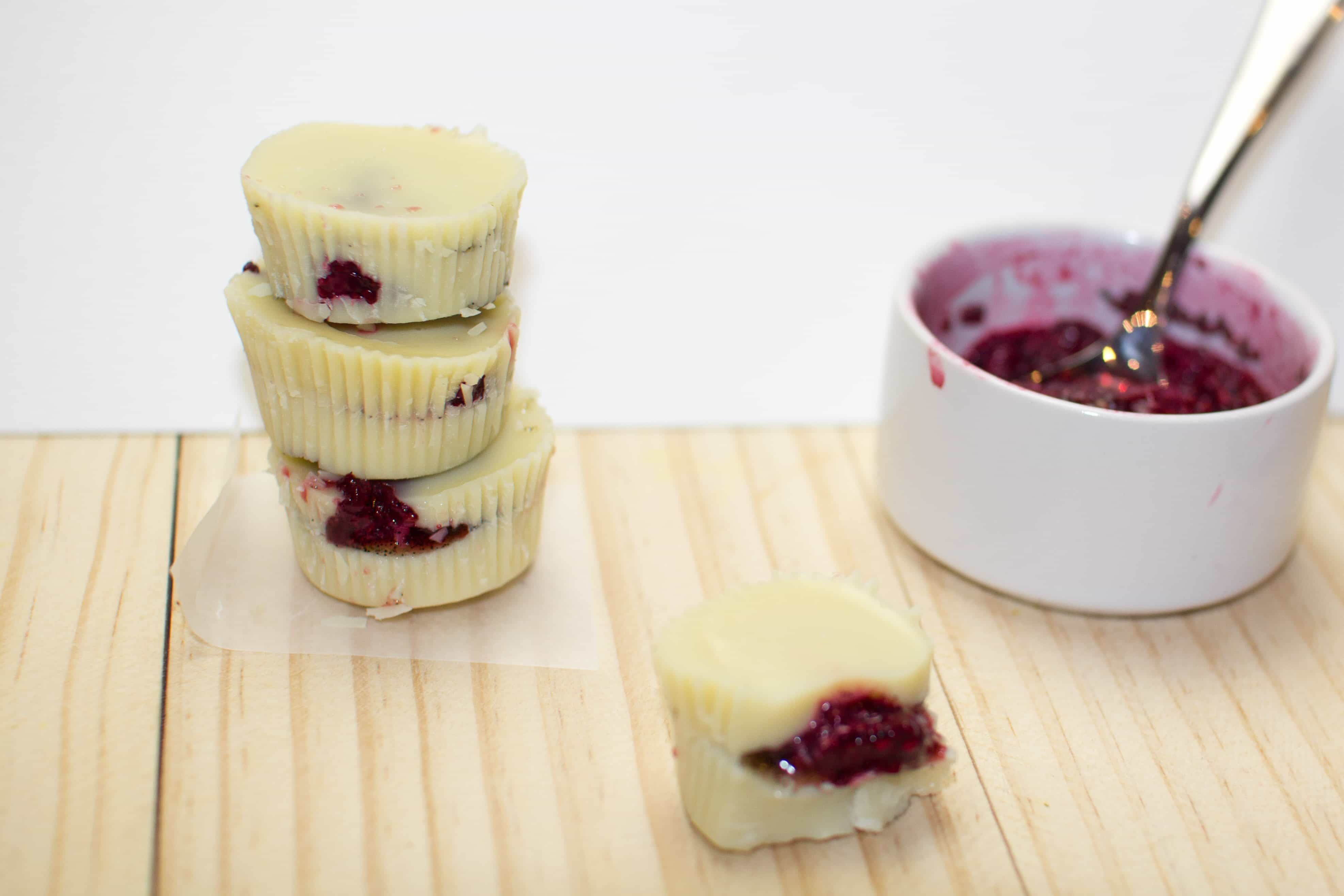 White Chocolate Berry Cups