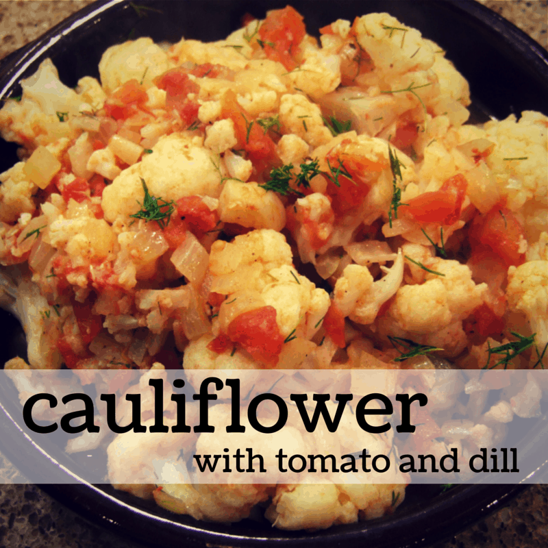 Cauliflower with tomato and dill