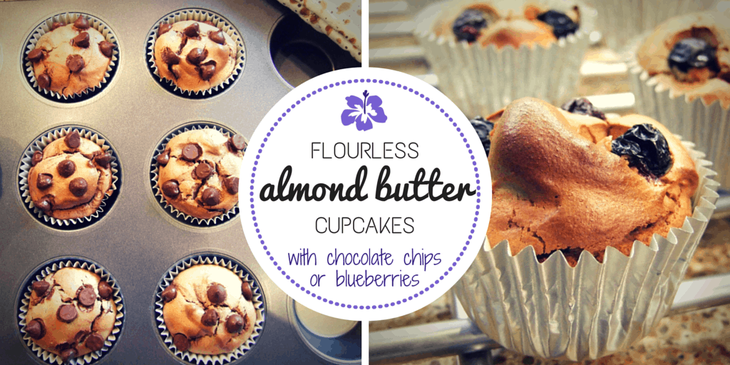 Flourless almond butter cupcakes two ways (gluten free)