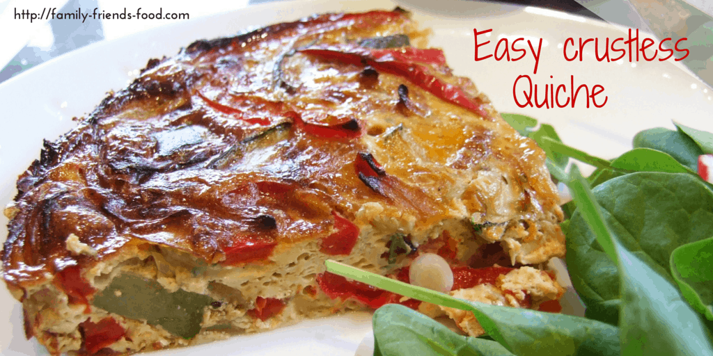 Easy vegetable crustless quiche – delicious & dairy-free