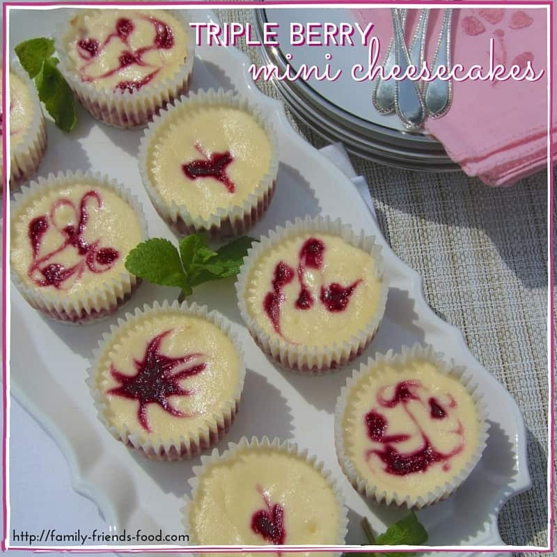 Individual berry cheesecakes – a Shavuot treat!