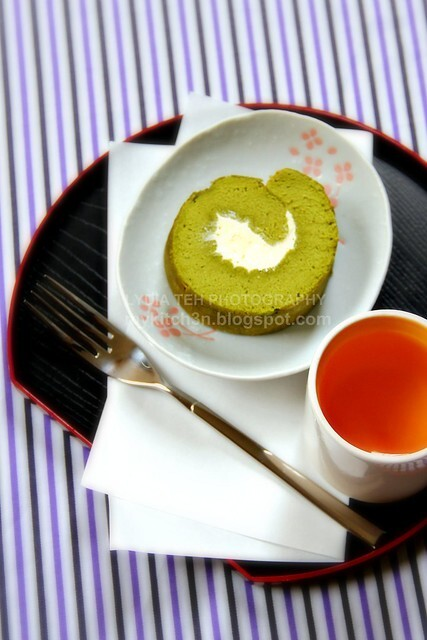 Matcha Rolled Cake II [with butter cream]