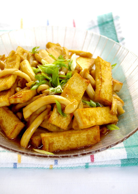 Stir-fried Tofu with Snow Mushroom [Y3K Recipes Issue No. 57]