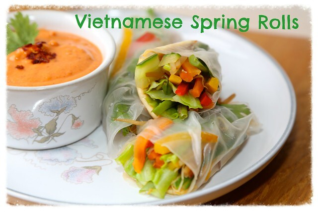 Vietnamese Spring Rolls with Satay Dipping Sauce