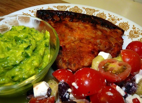 March 2007 - Barbecued Peri-Peri Pork with Quick Guacamole