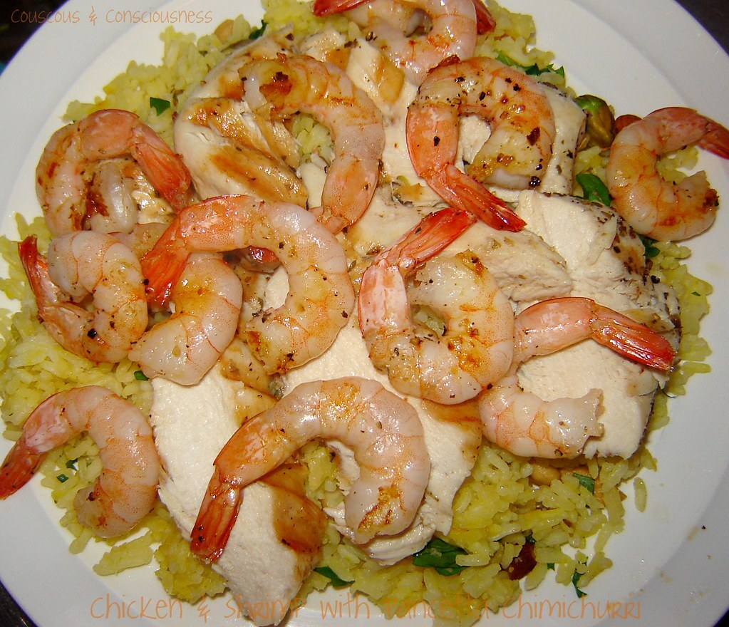 Chicken & Shrimp with Pancetta Chimichurri