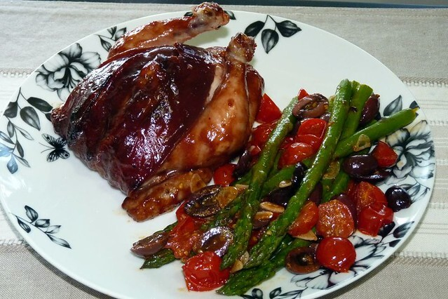 December 2005 - Roasted Spatchcocks with blood-plum glaze