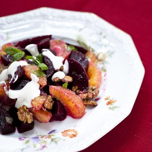 Christmas Recipes: Beetroot and Orange Salad with Ginger Dressing