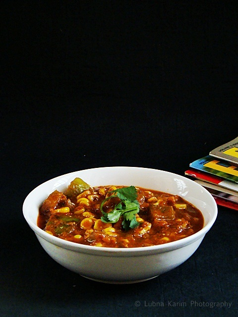 Creamy Corn-Capsicum Curry