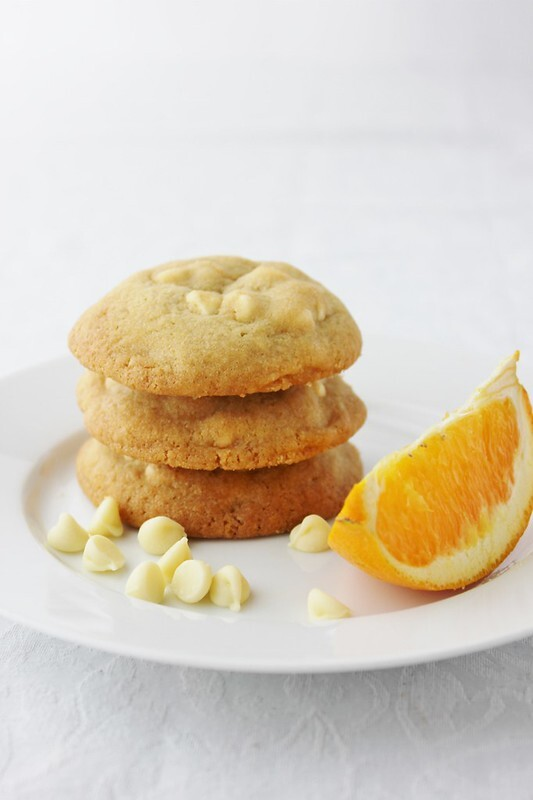 White Chocolate Orange Cookies