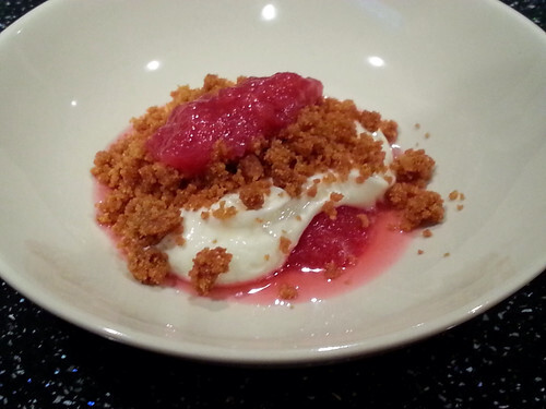 Recipe - Deconstructed Rhubarb & Ginger Cheesecake