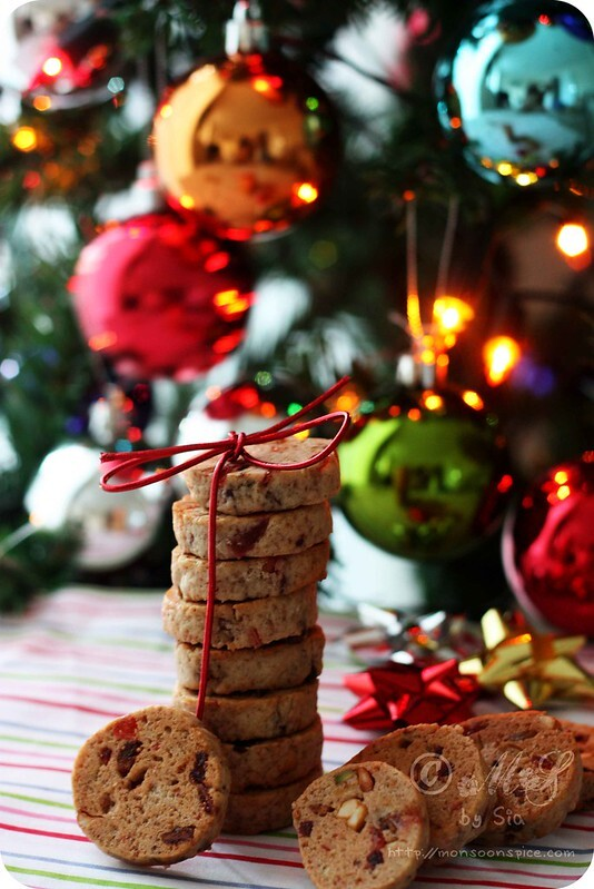 Eggless Fruitcake Cookies Recipe | Simple Christmas Cookie Recipes