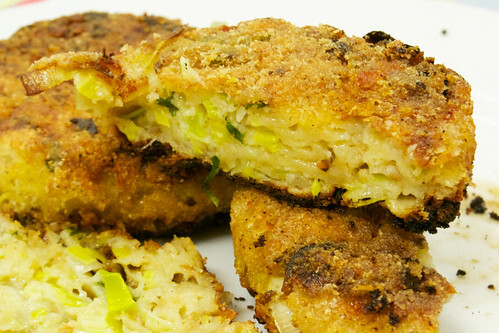 Caerphilly Cheese and Leek Cakes