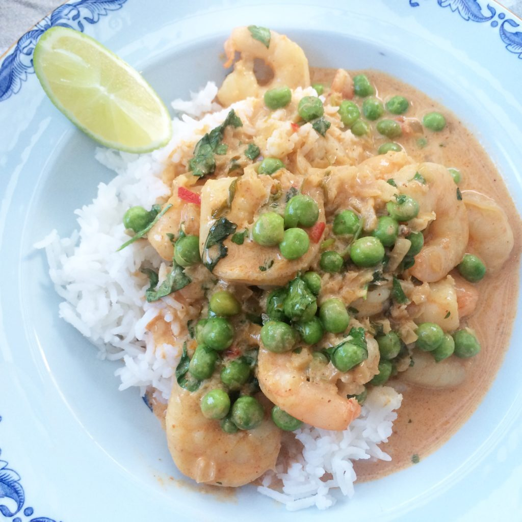 Scampi thai curry special