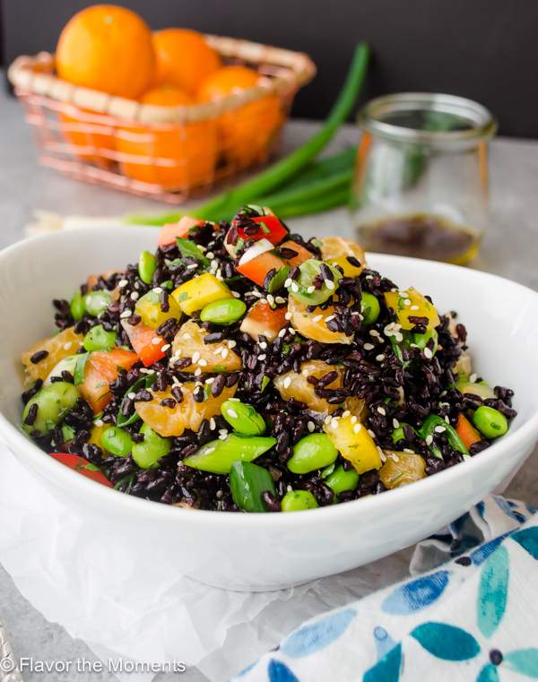 Asian Black Rice Salad with Ginger Orange Dressing