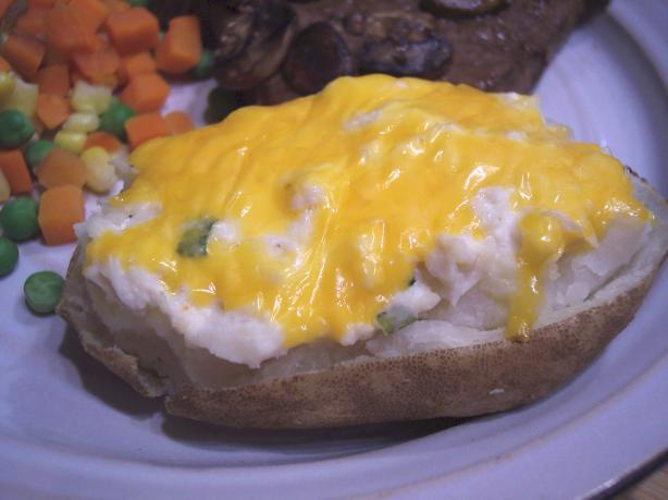 Twice Baked Potatoes With Seafood Topping