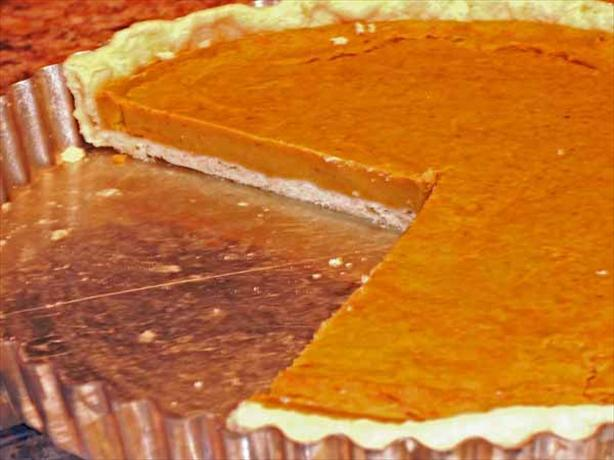 Pumpkin Custard Tart (Vegan)