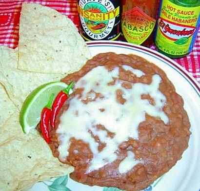 Mexican Fried Beans with Onions and Garlic