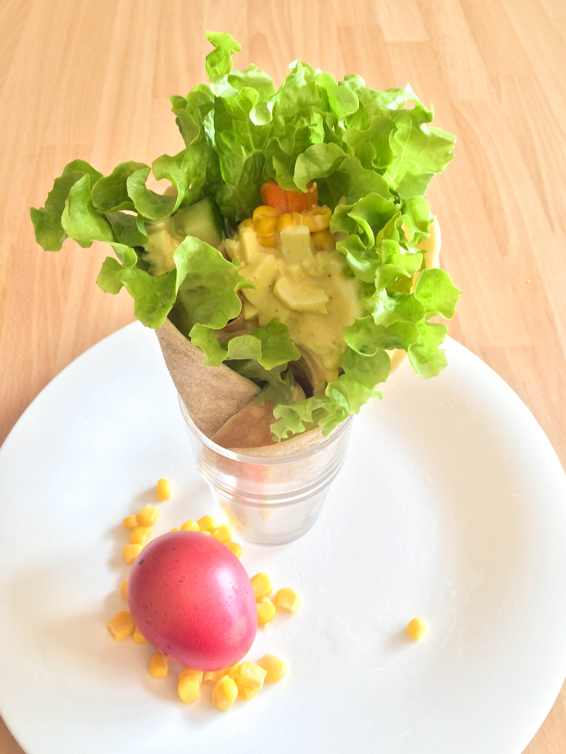 Wraps mit Ei-Curry-Dip