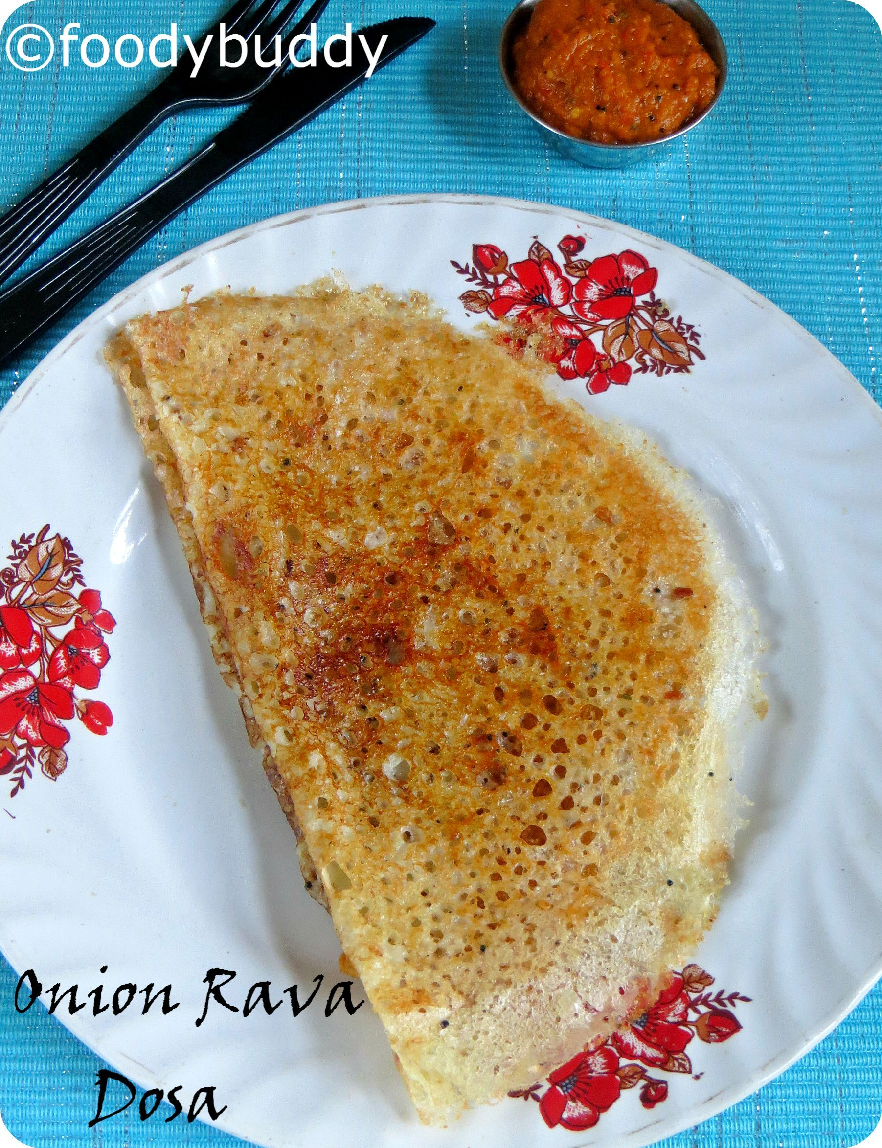 HOTEL STYLE ONION RAVA DOSA RECIPE