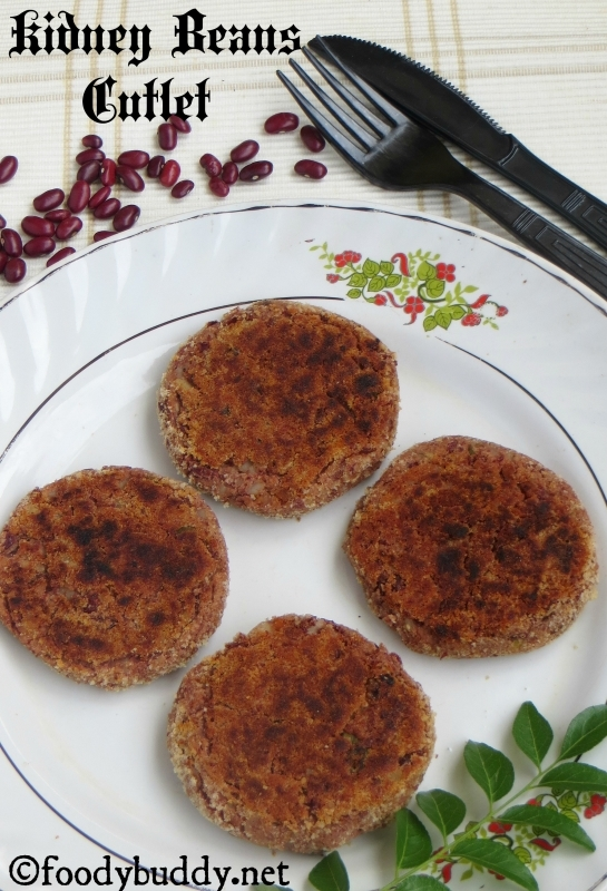 Rajma Cutlet / Rajma Aloo Tikki / Kidney Beans Patties