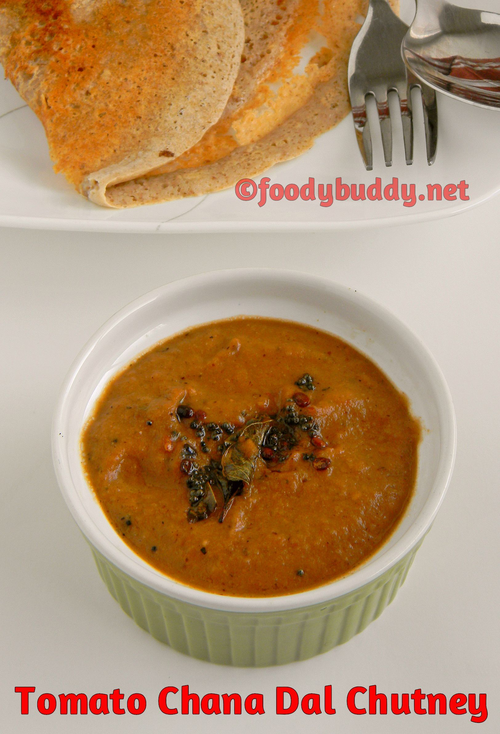 Tomato and Chana dal chutney