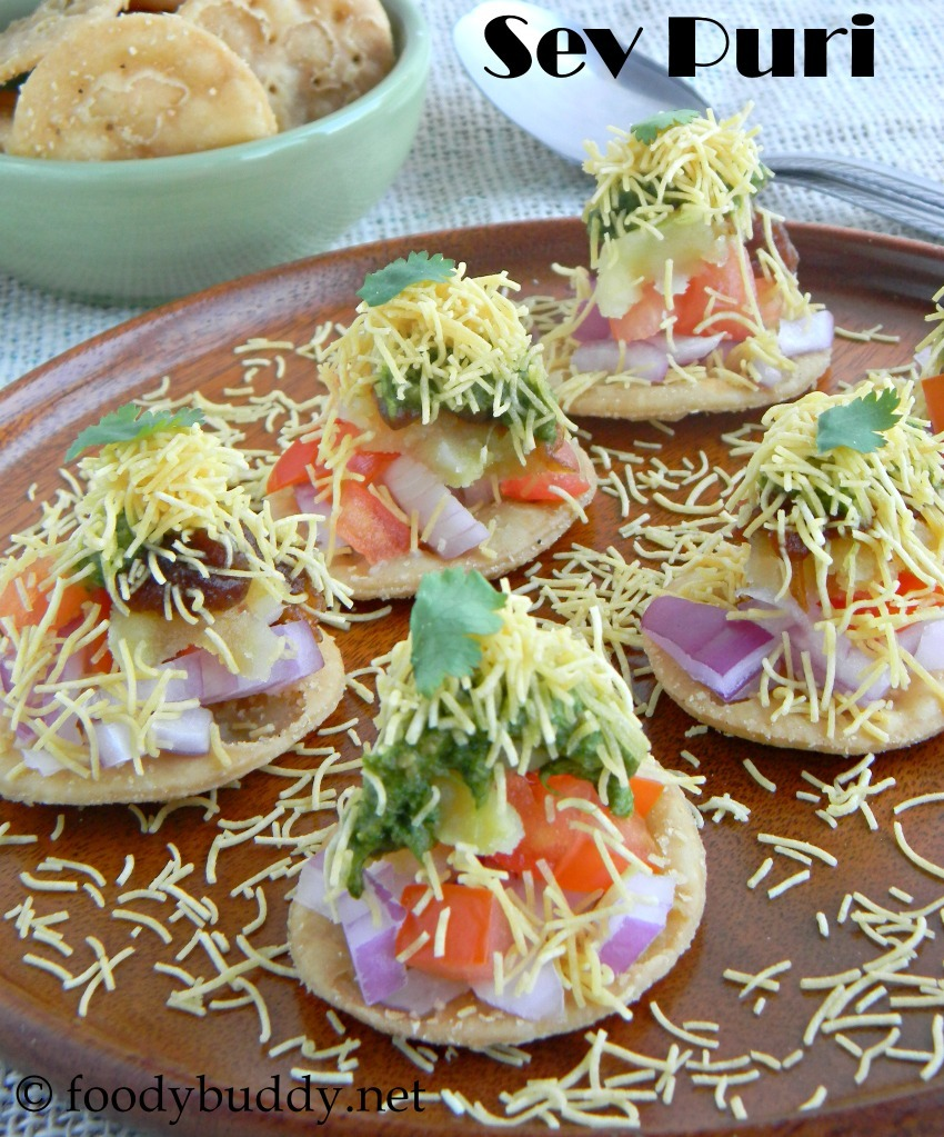 How to make Sev Puri / Sev Papdi chat