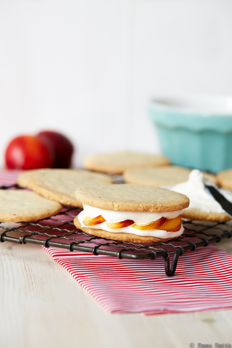 Hazelnut Shortbread with Nectarines