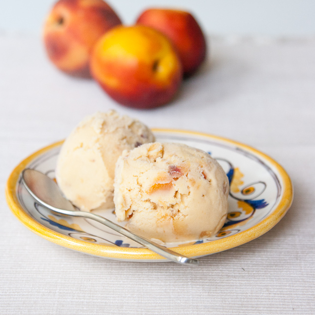 Honey Roasted Nectarine Ice Cream – Healthier than usual ice cream