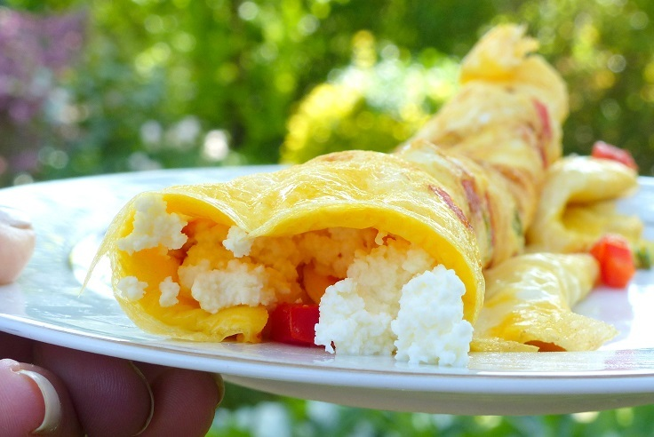 Recept: omelet met home made hüttenkäse