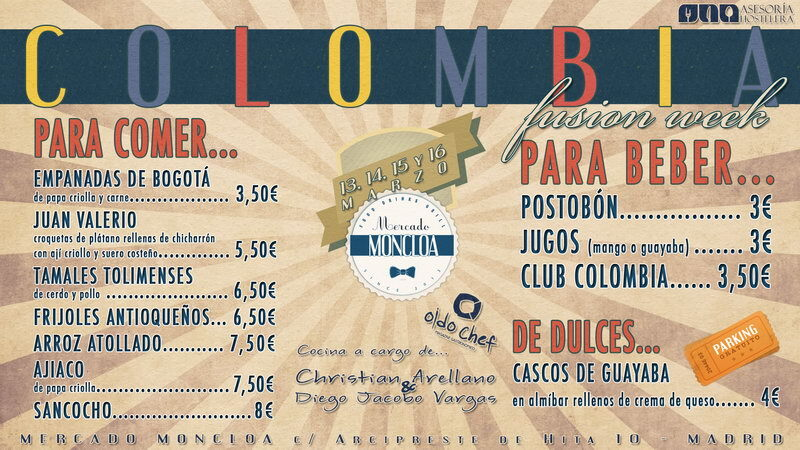 Fusion Week de comida colombiana en Madrid