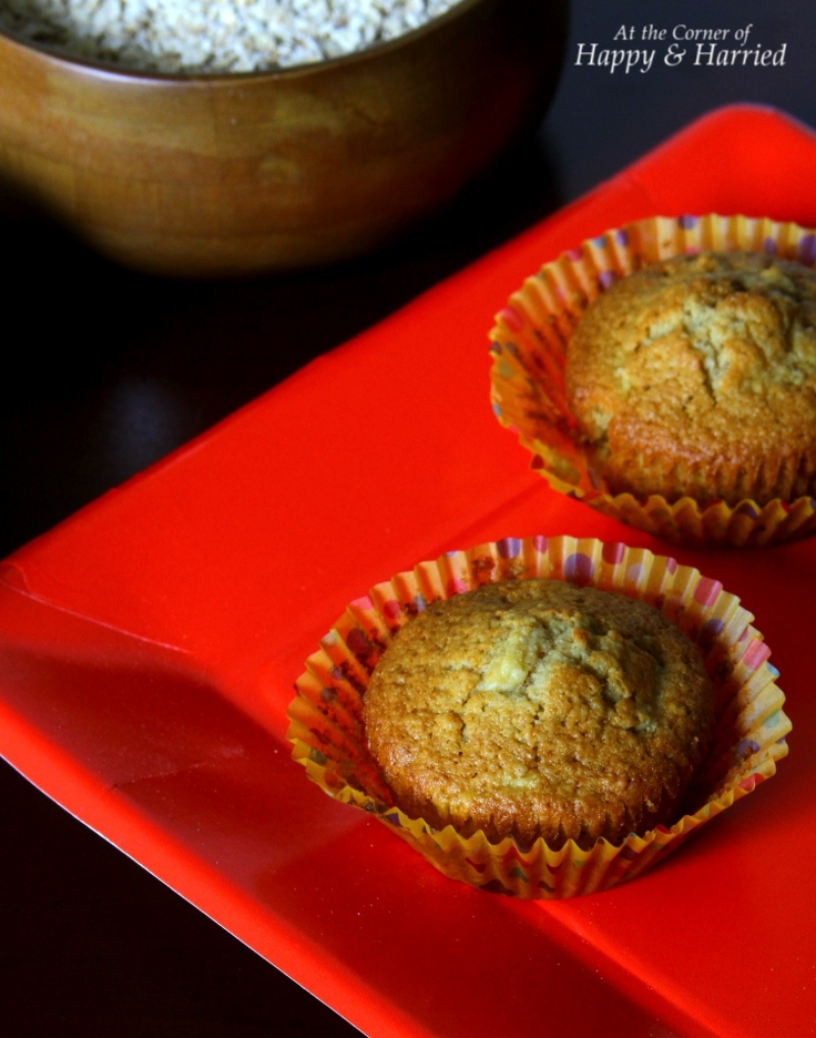 Oat Flour Apple Muffins