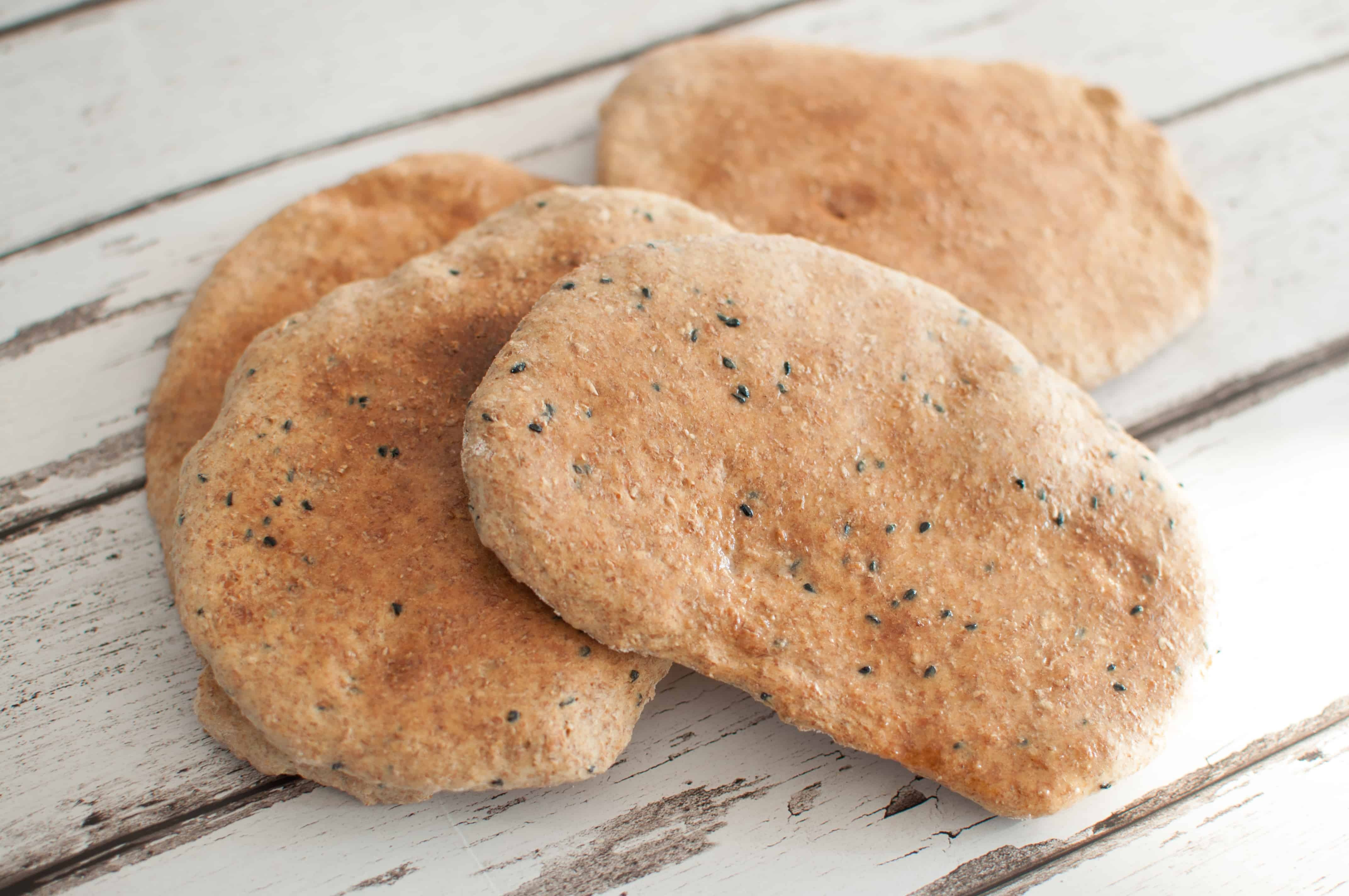 Clean eating pitta bread recipe