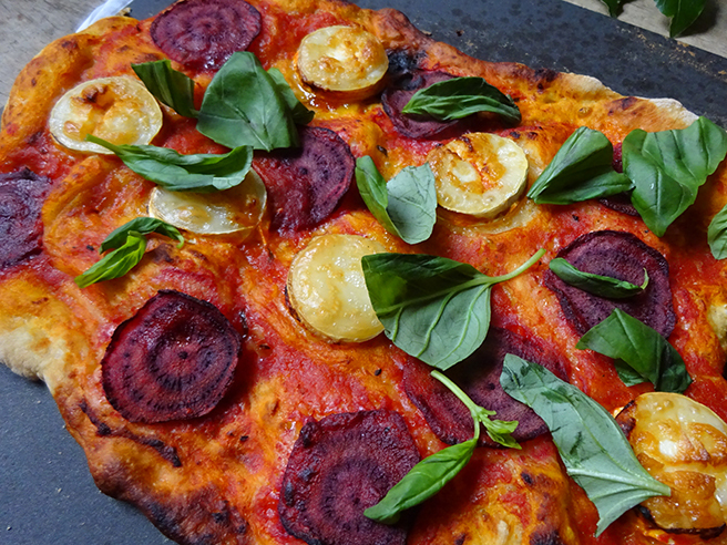 Cakes & Bakes: Beetroot and goats cheese pizza