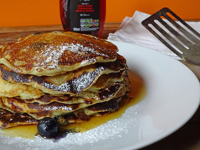 Cakes & Bakes: Buttermilk pancakes with blueberries