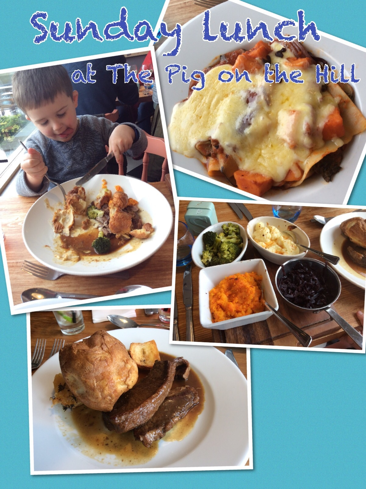Sunday lunch at The Pig on the Hill