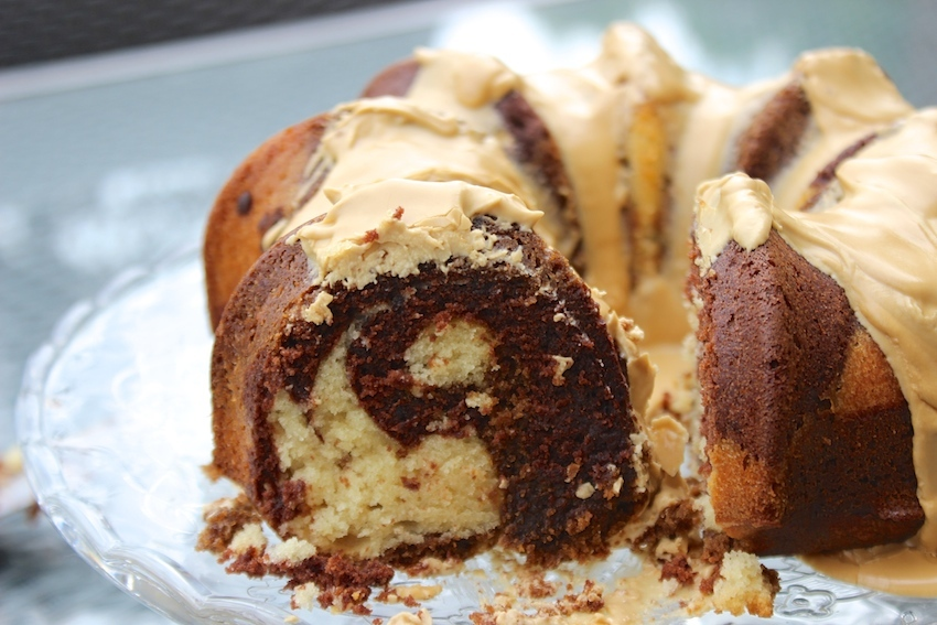 Coffee, Chocolate and Vanilla Swirl Coffee Cake