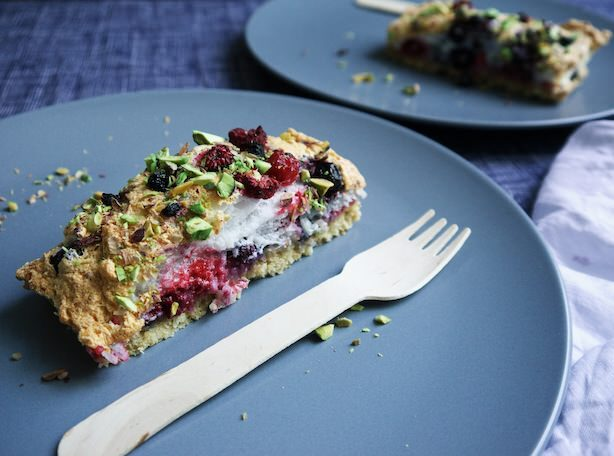 Nuts about Sweets: Berry Coconut Pistachio Tart