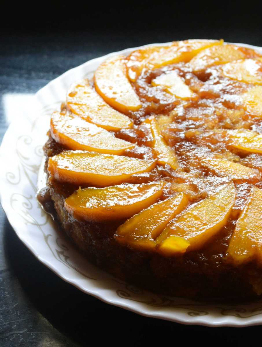 Eggless Mango Upside Down Cake Recipe