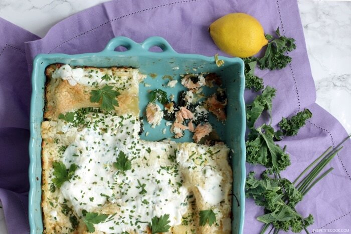 Superfood Salmon Lasagna with Kale and Spinach